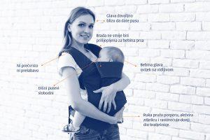 Kako koristiti nosiljke za djecu (klokanice)
